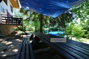 Chata Samuel s bazénom