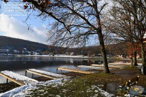 Keď sa ohlási zima na jazere